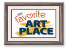 My Favorite Art Place Sticky Logo