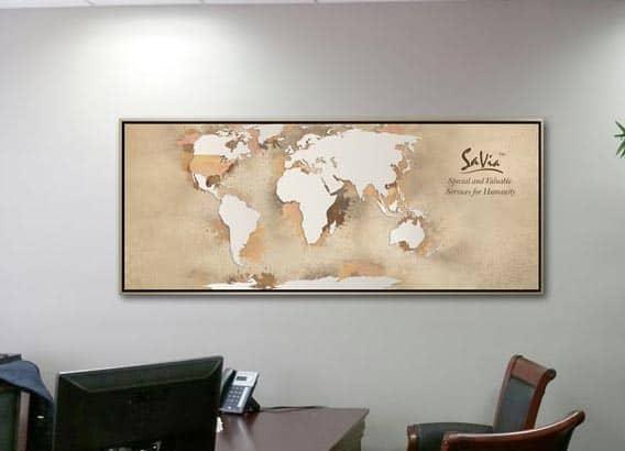 Art Business Map Proof Floater Frame Corporate Artwork Office
